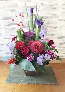 癒しの和エステ「心美」のお正月の花
