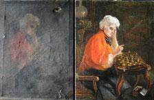 Restaurierung Rahmen und Gemälde Wien Restaurator Gregor Eder
