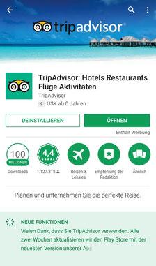 Apps, Reisen, Reiseapps, Die Traumreiser, Tripadvisor