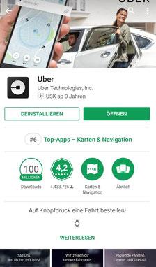 Apps, Reisen, Reiseapps, Die Traumreiser, Uber