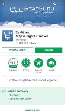 Apps, Reisen, Reiseapps, Die Traumreiser, Seatguru