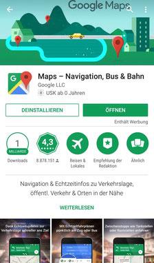 Apps, Reisen, Reiseapps, Die Traumreiser, Google Maps