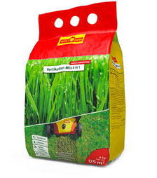 Rasendünger und Turbonachsaat Vertikutier Mix  125