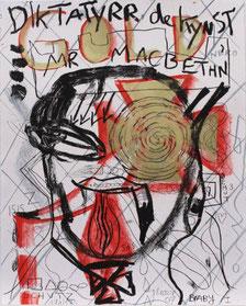 "Jonathan Meese,  ""macbath"", 2007, Lithografie / Bütten, 60x45cm, 171 / 175"