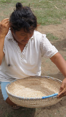 Warao woman. Basketry