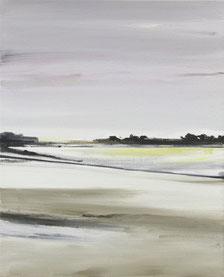 Matthieu van Riel Schilderijen. Winter landschap 54x43cm olie op doek 2012
