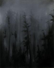 Matthieu van Riel Schilderijen. Wald Empfindung (1) 100x80cm olie op canvas 2017