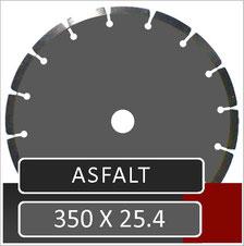 prodito slijpschijf 350mm voor het zagen in asfalt met een benzine doorslijper met opname 25.4