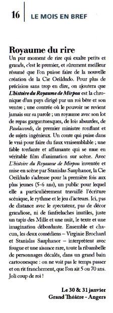 Suzie Macel, Le Scéno - janvier 2018