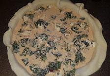 Mürbeteig Quiche mit Mangold und Ei