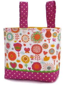 Laufrad Tasche Kind Mädchen Blumen pink Fahradkörbchen Geschenkr