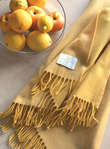 Lambswool Cosy Reversible - Yellow Sun - S. Fischbacher Living