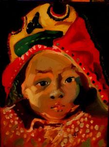 Peinture à l'huile de Jacqueline COLONGE