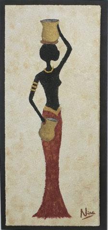 GIRL ZERA, 35 x 75 cm, Acryl & Sand gespachtelt, CHF 620.--