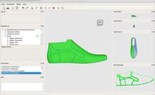 PEAKTOURe 3D Schuh CAD Abwicklung 2D