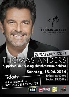 Es gibt noch Restticket für das Konzert am 15.06.14