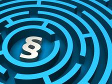 Paragraphen Gesetze kompliziert Labyrinth