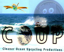 Surf clean beach wave playa COUP ocean upcycling art trash, COUP, Cleaner Ocean Upcycling Productions