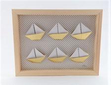 cadre origami cadeau naissance decoration chambre enfant