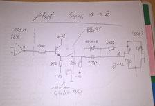 OSC1 -> OSC2 SYNC