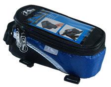 sacoche smartphone baladeur velo cadre accessoire pas cher cycle bleu blue