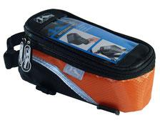 sacoche smartphone baladeur pas cher velo cadre accessoire cycle orange