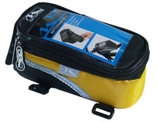 sacoche smartphone baladeur velo pas cher cadre accessoire cycle jaune yellow