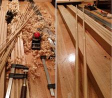 Gespließte Fliegenruten split cane rod building Bambus bamboo tonkin