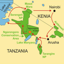 Lodgesafari Tanzania ab/bis Arusha