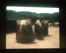 最後に上映された、お宝フィルム。「踊り出すかご」の衝撃に、会場がどよめきました!