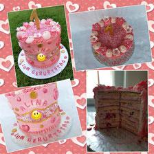 Fault Line Cake zum ersten Geburtstag