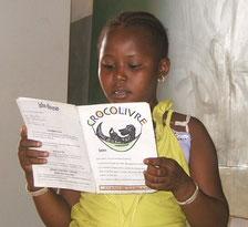 Jeune lectrice du Crocolivre