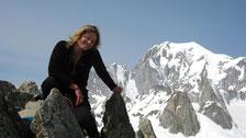 Au sommet, Aurélie et le Mont-Blanc...