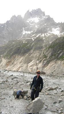 Ricardo sur La Mer de Glace