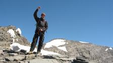 Près du Col du Ruan, avec le sommet en toile de fond