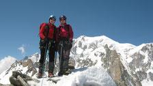 Fred et Jérôme au sommet de l'Aiguille de Toule