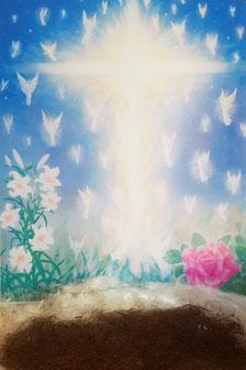 Engel gemalt von Peter Fich Christiansen