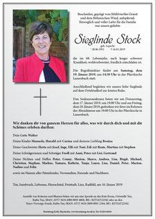 Parte Sieglinde Stock +16.1.2019