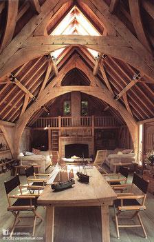 Casa con struttura portante in quercia