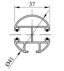 Typ 6 - Schwere Mittelschiene rund