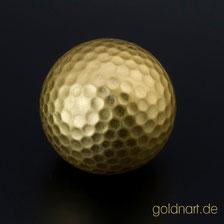 Vergoldeter Golfball, Gold'n art, Groß-Gerau, Main-Taunus, Wiesbaden, Frankfurt