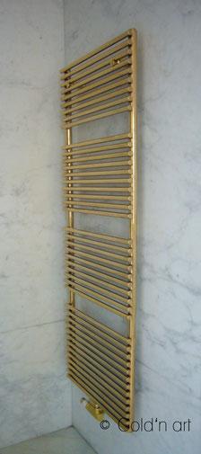 Luxus Bad Heizkörper, vergoldet, vergolden, gold, Frankfurt, Deutschland, München, Berlin