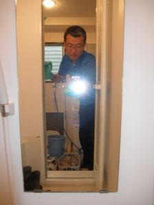浴室鏡施工後