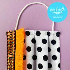 colorful easy breath cotton mask