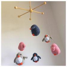 Pinguin Mobile, Mobile mit Pinguinen, Pinguine