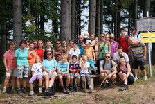 Gruppenfoto am Gipfel Rossmoos (1015m)