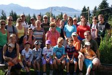 Gruppenfoto an der Jausenstation