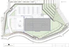葵会の総合病院計画配置図