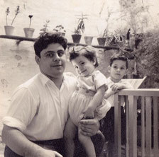 Me with my father and eldest brother Joe in the background.