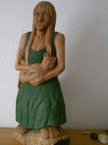 Die Bäuerin(45 cm aus Eiche.